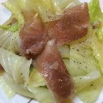 生ハムとキャベツのサラダ