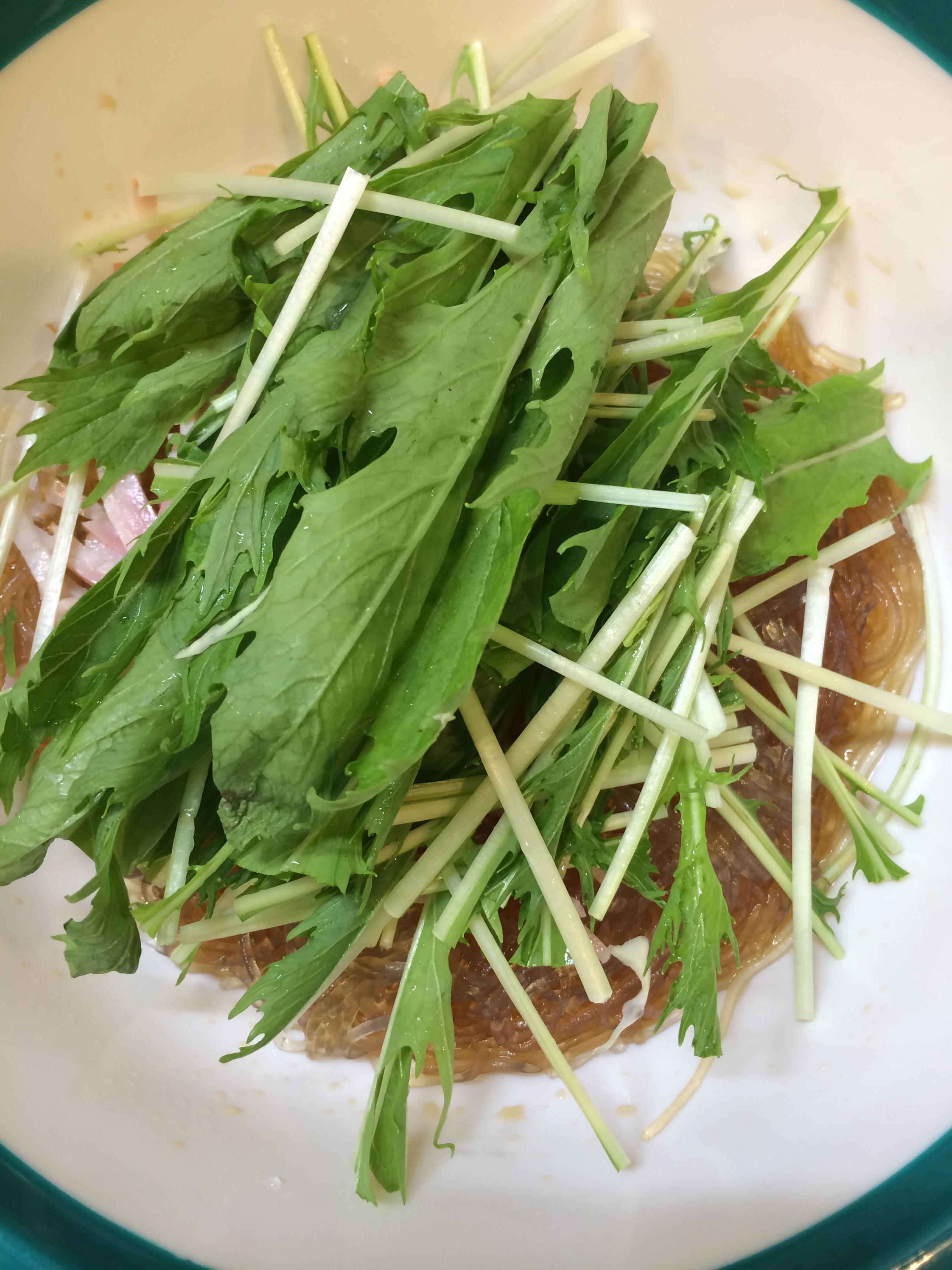 ベーコン サラダ 水菜