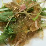 水菜の春雨サラダ