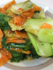 チンゲン菜ときのこのオイスターソース