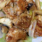 鶏もも肉とエリンギのマヨポン炒め