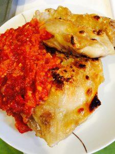 チキンのトマトガーリックソース