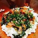 大葉ベーコン海苔丼