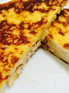 とろとろチーズとツナマヨサンド