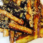 茄子と長芋の和風オリーブオイル焼き