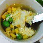 枝豆とコーンと卵のスープ