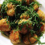 鶏挽肉とはんぺん団子の生姜焼き