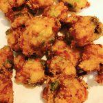 枝豆ベーコン豆腐の揚げ物