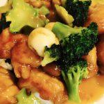 鶏肉とブロッコリーとうずらの中華風