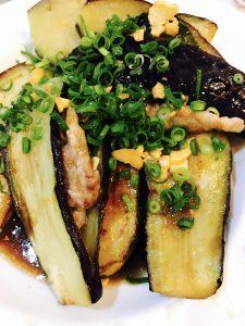 茄子の大葉豚肉のスタミナハサミ焼き