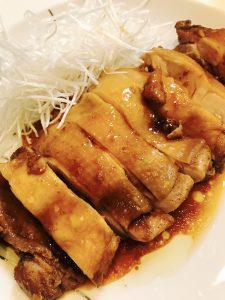 中華風鶏肉の香り蒸し