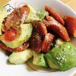 アボカドとサラミの胡椒和え