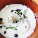 きのこたっぷり豆乳の和風スープ