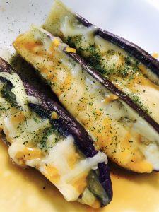 レンジでナスのチーズ焼き