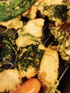 鶏胸肉とシソの天ぷら