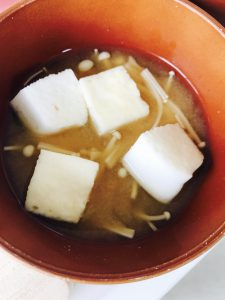 はんぺんの味噌汁