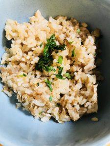 ツナと梅干しの炊き込みご飯