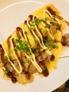 豚肉と白菜のとん平焼き