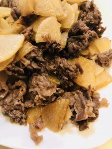 牛肉と大根の甘辛炒め
