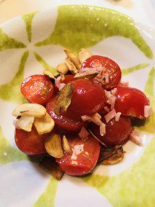 プチトマトのガーリックオイル和え