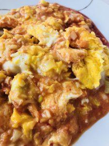 卵のチリソース炒め