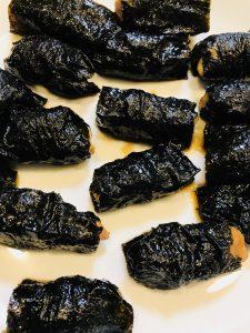 鶏むね肉の小松菜海苔ロール