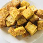 厚揚げのカレーチーズ焼き