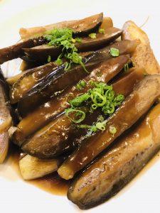 茄子の油炒め煮