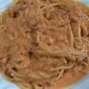 カニのトマトクリームパスタ